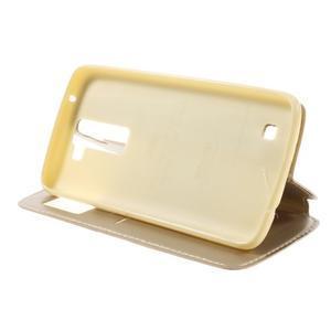 Richi PU kožené puzdro pre mobil LG K8 - zlaté - 4