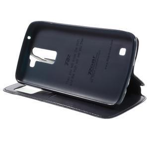 Richi PU kožené puzdro pre mobil LG K8 - tmavomodré - 4