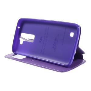 Richi PU kožené pouzdro na mobil LG K8 - fialové - 4