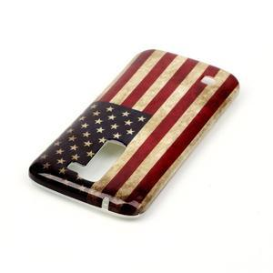 Emotive gélový obal pre mobil LG K8 - US vlajka - 4