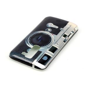 Emotive gélový obal pre mobil LG K8 - retro foťák - 4