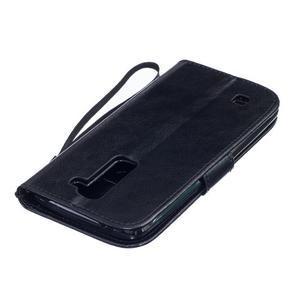 Dandelion PU kožené puzdro pre mobil LG K8 - čierne - 4