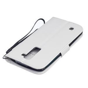 Dandelion PU kožené pouzdro na mobil LG K8 - bílé - 4