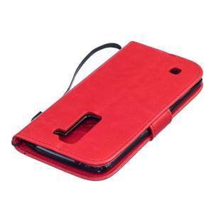 Dandelion PU kožené puzdro pre mobil LG K8 - červené - 4