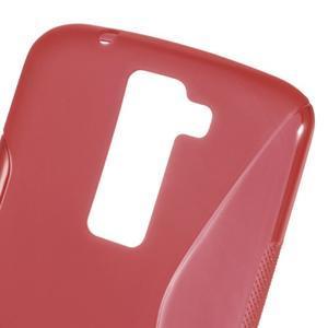 S-line gélový obal pre LG K8 - červený - 4