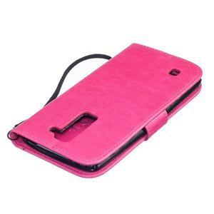 Dandelion PU kožené pouzdro na mobil LG K8 - rose - 4