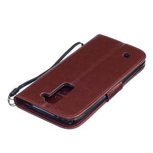 Dandelion PU kožené pouzdro na mobil LG K8 - hnědé - 4