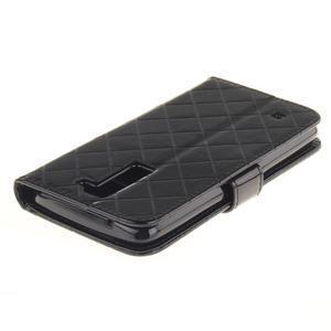 Luxusní PU kožené puzdro s přezkou na LG K8 - čierne - 4