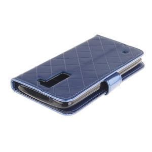 Luxusní PU kožené pouzdro s přezkou na LG K8 - modré - 4