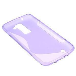S-line gélový obal pre LG K8 - fialový - 4