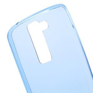 Ultratenký gélový obal pre mobil LG K8 - modrý - 4