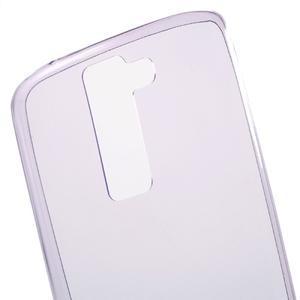 Ultratenký gélový obal pre mobil LG K8 - fialový - 4