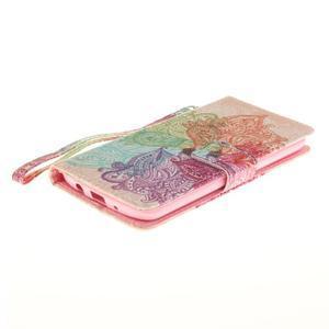Style PU kožené puzdro pre LG K8 - farebná mandala - 4