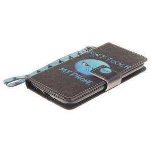 Style PU kožené pouzdro na LG K8 - nedotýkat se - 4