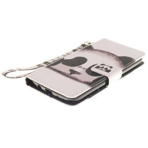 Style PU kožené puzdro pre LG K8 - panda - 4