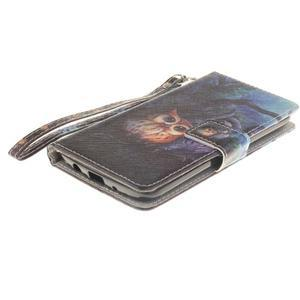 Style PU kožené pouzdro na LG K8 - sovičky - 4