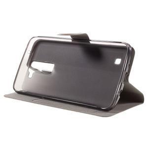 Horse PU kožené puzdro pre mobil LG K8 - hnedé - 4