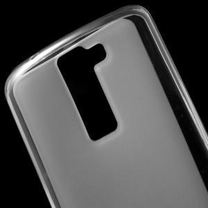 Matný gélový obal pre mobil LG K8 - transparentný - 4
