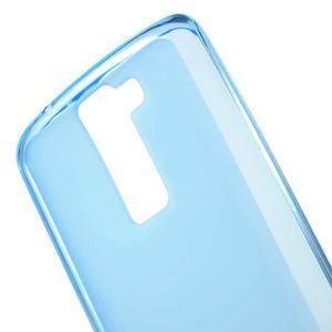 Matný gelový obal na mobil LG K8 - modrý - 4