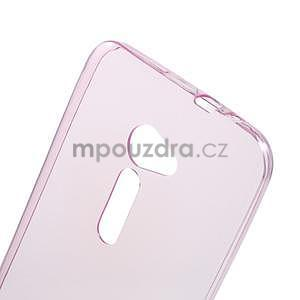 Ultra tenký slim gélový obal pre Asus Zenfone 2 ZE500CL -  rose - 4