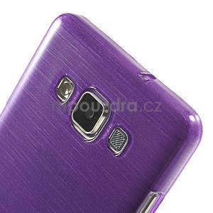 Broušený gélový obal Samsung Galaxy A5 - fialový - 4