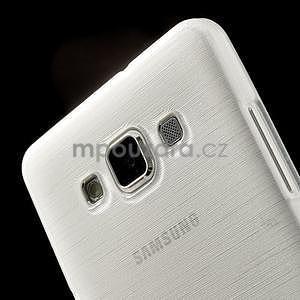 Broušený gélový obal Samsung Galaxy A5 - biely - 4