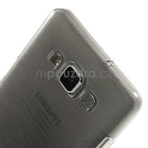 Broušený gélový obal Samsung Galaxy A5 - šedý - 4