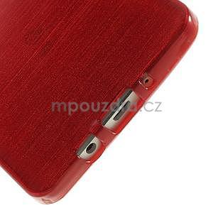 Broušený gélový obal Samsung Galaxy A5 - červený - 4