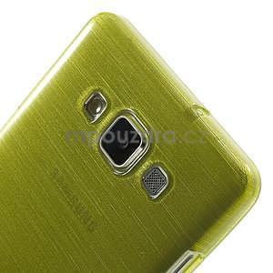 Broušený gélový obal Samsung Galaxy A5 - zelený - 4