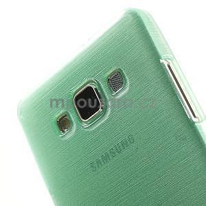 Brúsený gélový obal Samsung Galaxy A5 - cyan - 4