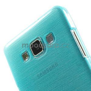 Brúsený gélový obal Samsung Galaxy A5 - tyrkysový - 4