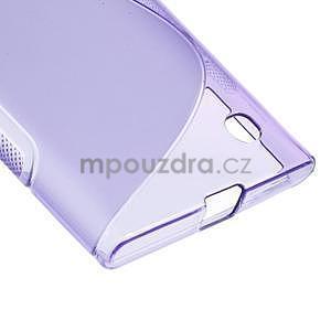 Gélový s-line obal na Nokia Lumia 730 a Lumia 735 - fialový - 4