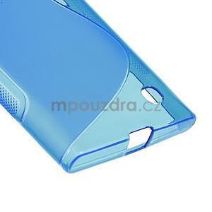 Gélový s-line obal na Nokia Lumia 730 a Lumia 735 - modrý - 4