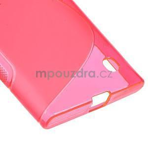 Gélový s-line obal pre Nokia Lumia 730 a Lumia 735 - ružový - 4