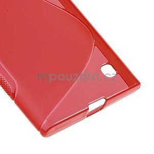 Gélový s-line obal na Nokia Lumia 730 a Lumia 735 - červený - 4
