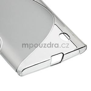 Gélový s-line obal pre Nokia Lumia 730 a Lumia 735 - sivý - 4