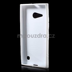 Gélový s-line obal na Nokia Lumia 730 a Lumia 735 - biely - 4