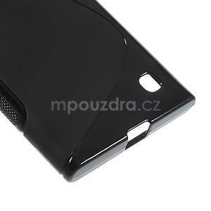 Gélový s-line obal na Nokia Lumia 730 a Lumia 735 - čierny - 4