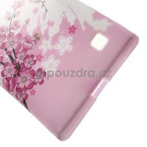 Gélové puzdro na Nokia Lumia 730 a Lumia 735 - kvetoucí větvička - 4