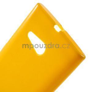 Gélový obal pre Nokia Lumia 730 a Lumia 735 - žltý - 4