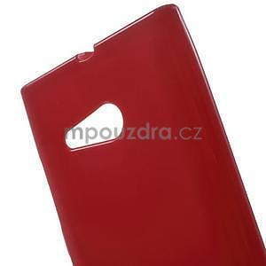 Gélový obal na Nokia Lumia 730 a Lumia 735 - červený - 4
