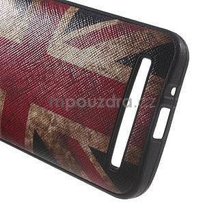 Gélový obal s imitáciou vrúbkované kože na Asus Zenfone 2 ZE500CL - vlajka UK - 4