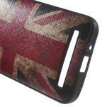 Gélový obal s imitáciou vrúbkované kože na Asus Zenfone 2 ZE500CL - vlajka UK - 4/5