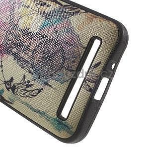 Gélový obal s imitáciou vrúbkované kože na Asus Zenfone 2 ZE500CL -  dream - 4
