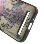 Gélový obal s imitáciou vrúbkované kože pre Asus Zenfone 2 ZE500CL -  dream - 4/5