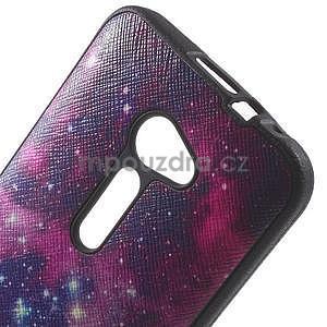 Gélový obal s imitáciou vrúbkované kože na Asus Zenfone 2 ZE500CL -  galaxy - 4