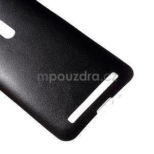 Gélový kryt s imitáciou kože Asus Zenfone 2 ZE500CL - čierny - 4