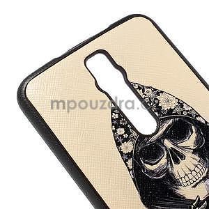 Gélový kryt s imitáciou vrúbkované kože pre Asus Zenfone 2 ZE551ML - smrtka - 4