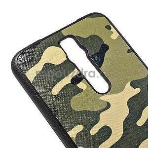 Gélový kryt s imitáciou vrúbkované kože pre Asus Zenfone 2 ZE551ML - vojenský - 4
