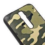 Gélový kryt s imitáciou vrúbkované kože pre Asus Zenfone 2 ZE551ML - vojenský - 4/5